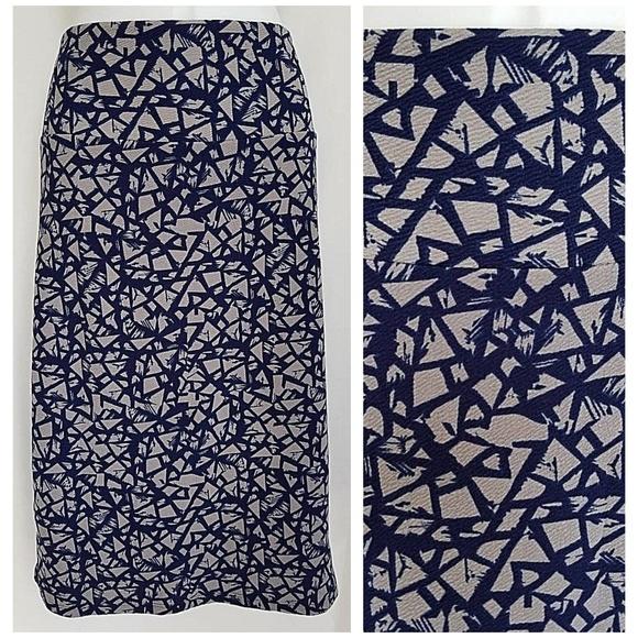Lularoe Red Geometric Print Cassie Straight Stretch Skirt 3xl Skirts